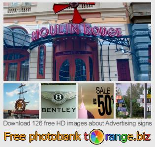 images free photo bank tOrange offers free photos from the section:  advertising-signs