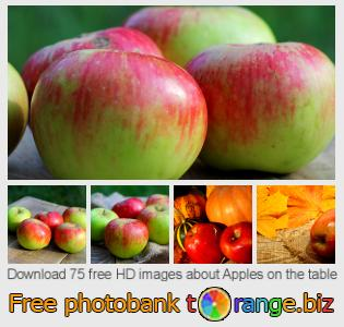 images free photo bank tOrange offers free photos from the section:  apples-table
