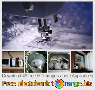Image bank tOrange offers free photos from the section:  appliances