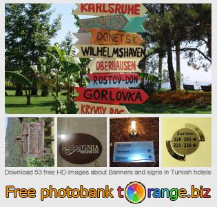 Image bank tOrange offers free photos from the section:  banners-signs-turkish-hotels
