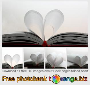 images free photo bank tOrange offers free photos from the section:  book-pages-folded-heart