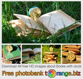 Image bank tOrange offers free photos from the section:  books-clock