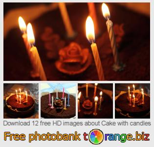 Image bank tOrange offers free photos from the section:  cake-candles