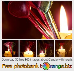 images free photo bank tOrange offers free photos from the section:  candle-hearts