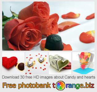 Image bank tOrange offers free photos from the section:  candy-hearts