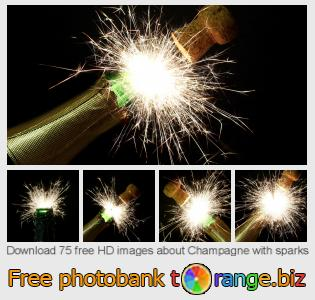 images free photo bank tOrange offers free photos from the section:  champagne-sparks