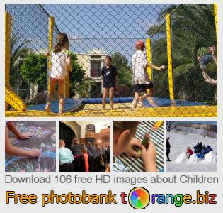 Image bank tOrange offers free photos from the section:  children
