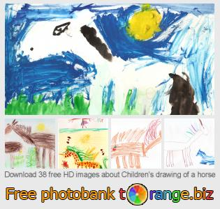 images free photo bank tOrange offers free photos from the section:  childrens-drawing-horse