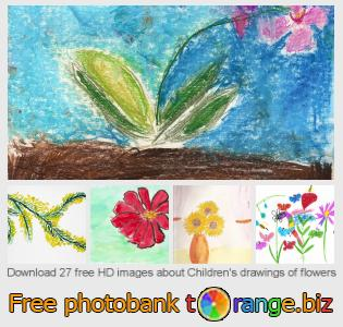 Image bank tOrange offers free photos from the section:  childrens-drawings-flowers