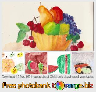 Image bank tOrange offers free photos from the section:  childrens-drawings-vegetables
