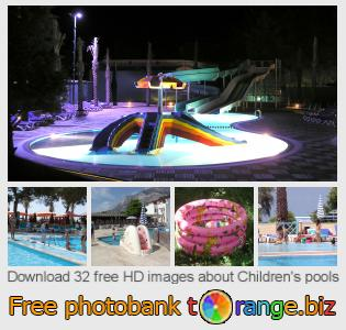 Image bank tOrange offers free photos from the section:  childrens-pools