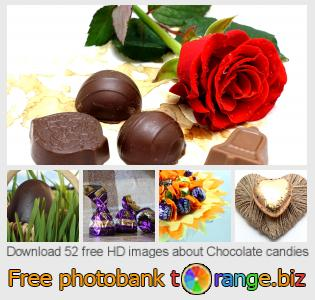 Image bank tOrange offers free photos from the section:  chocolate-candies