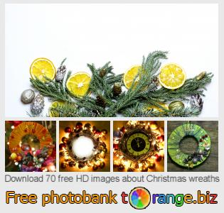 Image bank tOrange offers free photos from the section:  christmas-wreaths