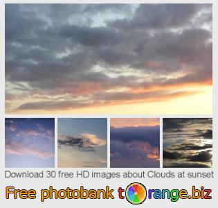 images free photo bank tOrange offers free photos from the section:  clouds-sunset