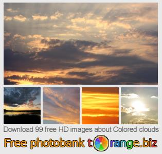 images free photo bank tOrange offers free photos from the section:  colored-clouds