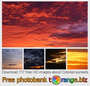 images free photo bank tOrange offers free photos from the section:  colored-sunsets