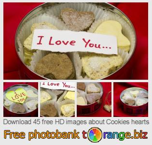 Image bank tOrange offers free photos from the section:  cookies-hearts