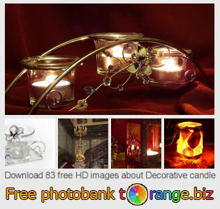 Image bank tOrange offers free photos from the section:  decorative-candle