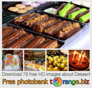 Image bank tOrange offers free photos from the section:  dessert
