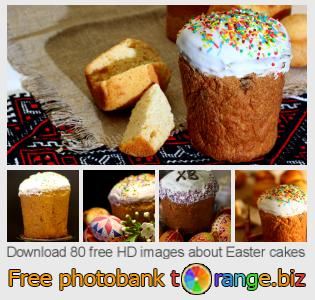 Image bank tOrange offers free photos from the section:  easter-cakes
