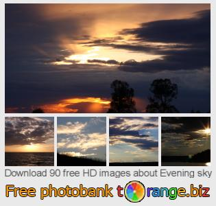 Image bank tOrange offers free photos from the section:  evening-sky