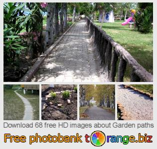 Image bank tOrange offers free photos from the section:  garden-paths