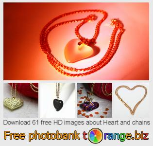 images free photo bank tOrange offers free photos from the section:  heart-chains