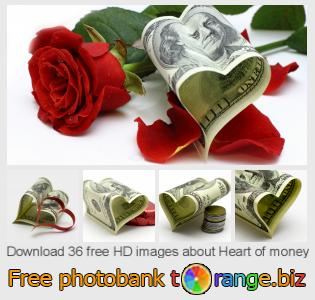 Image bank tOrange offers free photos from the section:  heart-money
