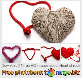 Image bank tOrange offers free photos from the section:  heart-rope