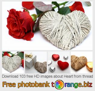 Image bank tOrange offers free photos from the section:  heart-thread