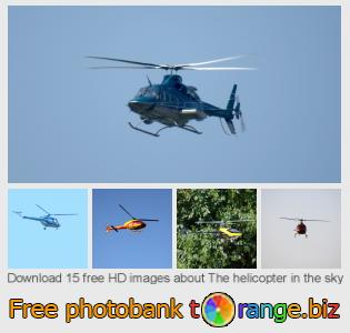 images free photo bank tOrange offers free photos from the section:  helicopter-sky