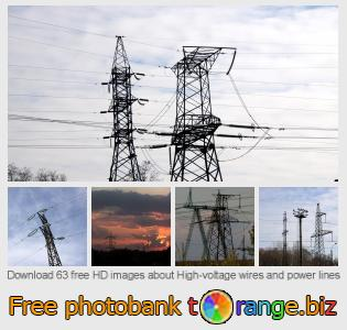 Image bank tOrange offers free photos from the section:  high-voltage-wires-power-lines
