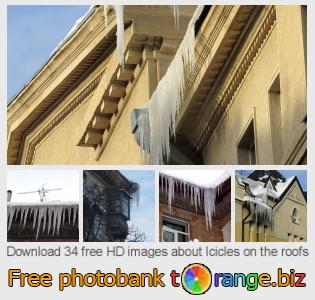 Image bank tOrange offers free photos from the section:  icicles-roofs