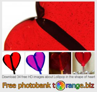 images free photo bank tOrange offers free photos from the section:  lollipop-shape-heart