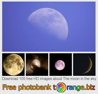images free photo bank tOrange offers free photos from the section:  moon-sky
