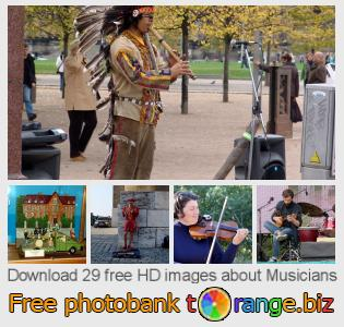 Image bank tOrange offers free photos from the section:  musicians