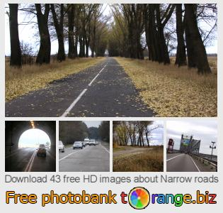 Image bank tOrange offers free photos from the section:  narrow-roads