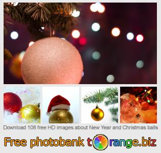 Image bank tOrange offers free photos from the section:  new-year-christmas-balls