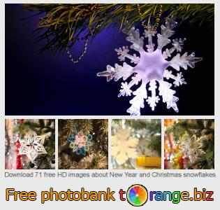 images free photo bank tOrange offers free photos from the section:  new-year-christmas-snowflakes