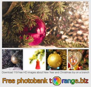 images free photo bank tOrange offers free photos from the section:  new-year-christmas-toy-branch