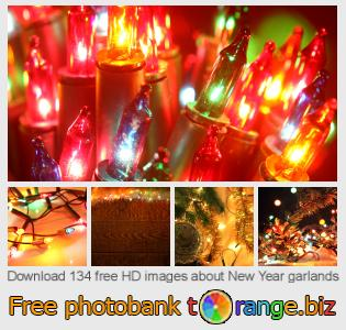 Image bank tOrange offers free photos from the section:  new-year-garlands