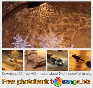 Image bank tOrange offers free photos from the section:  night-snowfall-city