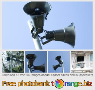Image bank tOrange offers free photos from the section:  outdoor-sirens-loudspeakers