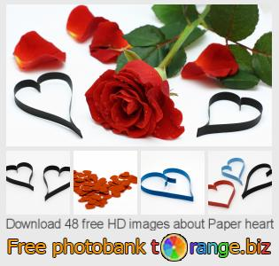 Image bank tOrange offers free photos from the section:  paper-heart