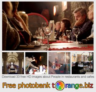 images free photo bank tOrange offers free photos from the section:  people-restaurants-cafes