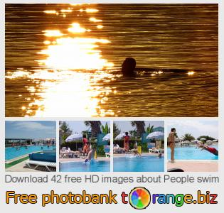 Image bank tOrange offers free photos from the section:  people-swim