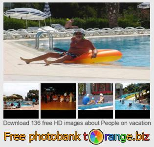 Image bank tOrange offers free photos from the section:  people-vacation