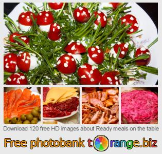 Image bank tOrange offers free photos from the section:  ready-meals-table
