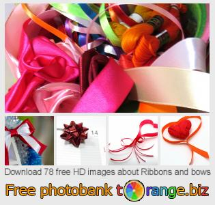 Image bank tOrange offers free photos from the section:  ribbons-bows