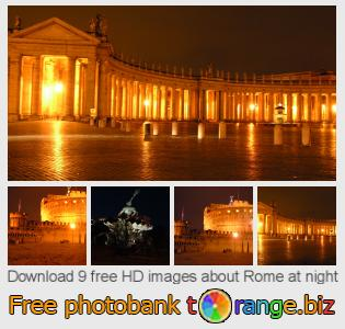 images free photo bank tOrange offers free photos from the section:  rome-night